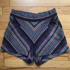 UO Ecote tribal striped tapestry short shorts, 2